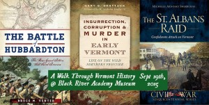 Recent books by the three featured authors in the all day program.