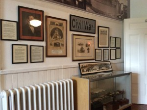 The 4th year of the Civil War exhibits has been installed by member John Stewart.