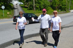 Opening Day and the 5 K Walk, which included Joyce Washburn, left, David Hoeh and the Museum Director Georgia Brehm.