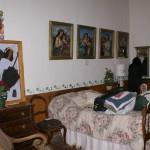 A bedroom scene . . .