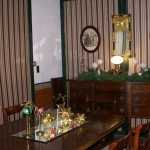 the dining room with Holiday decorations