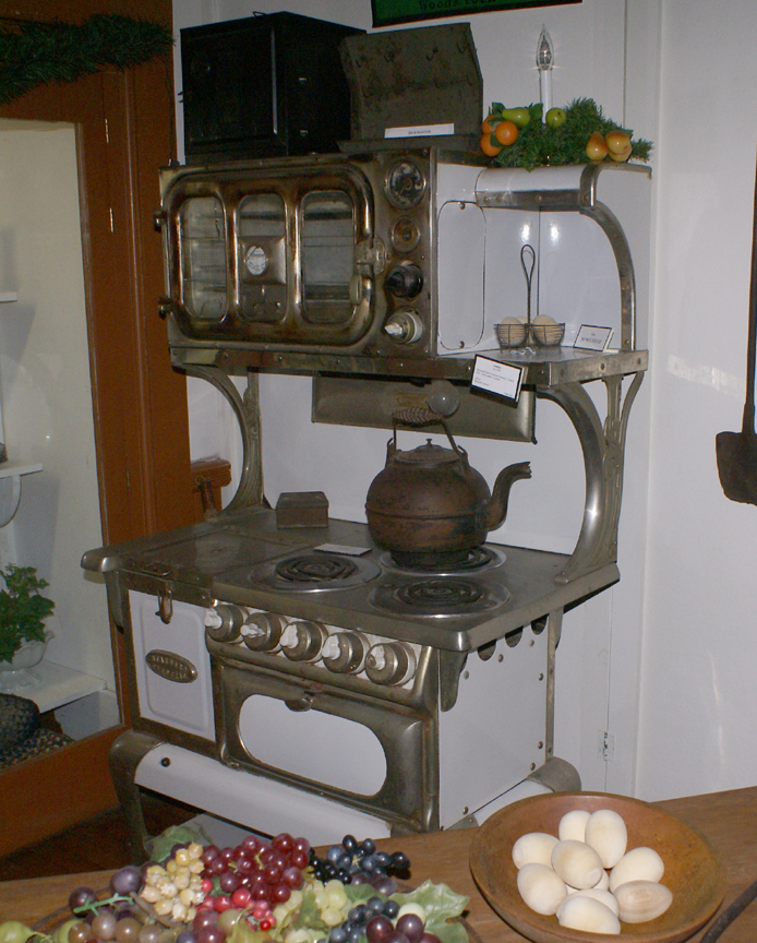 "A stove to produce that ""country"" cooking . . ."