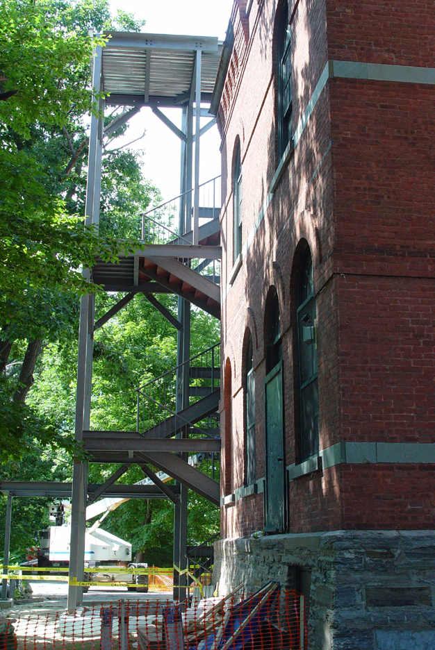 Steel framework with roof beams, August 25, 2008