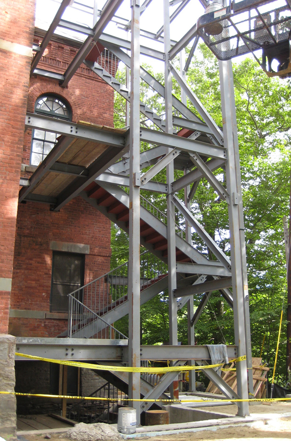 Fire stairs framing, August 20, 2008