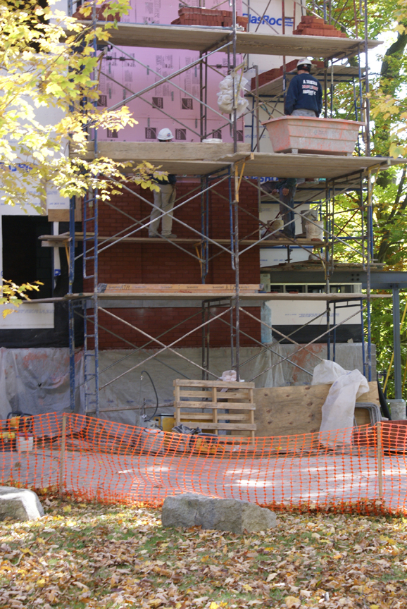 Brick work in progress, October 8, 2008
