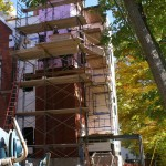 Completed Shell plus brick work, October 10, 2008