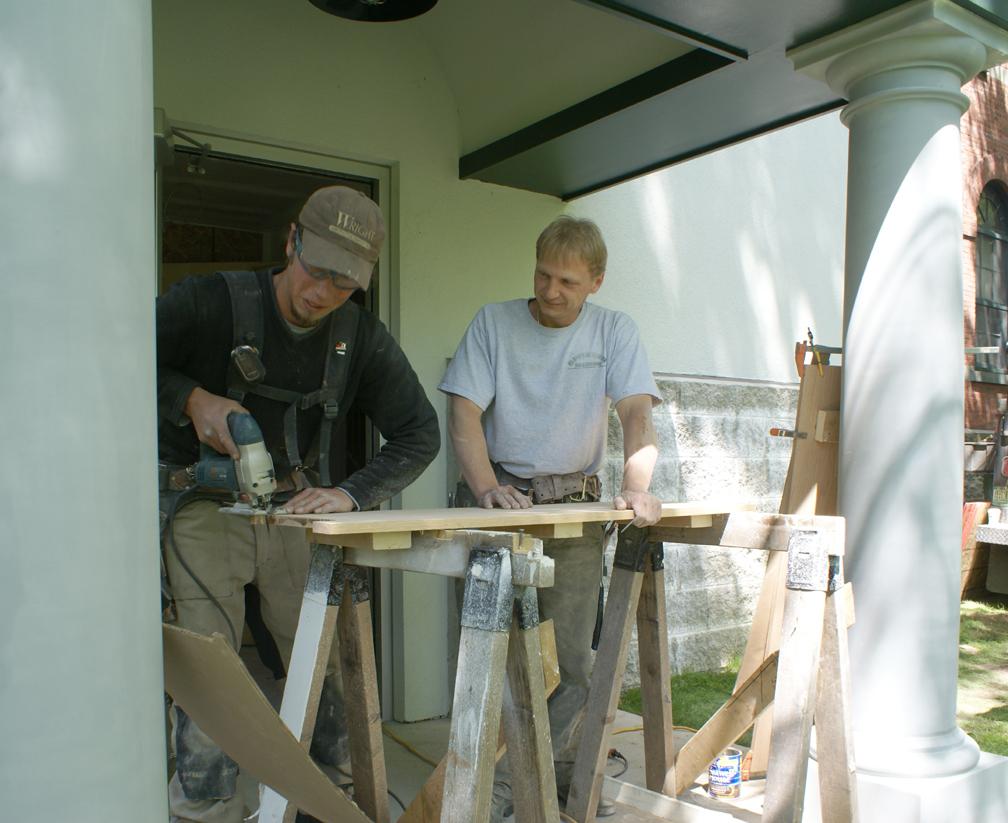 Wright workers prepare threshold, June 2, 2009
